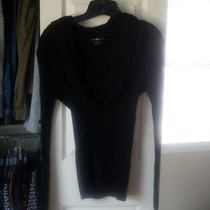 Black long sleeve, cowl neck sweater